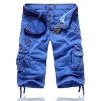 Mens Shorts AmberHeard 2021 Mens Cargo Shorts Spring Summer Casual Camouflage Cotton Tactical Men Short Pants Knee Length Plus Size