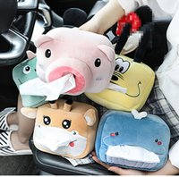 In-car tissue box Desktop Napkin Cute Cartoon Pig Shaped Paper Storage Kitchen Toilet Roll Holder Tube Upholstery Dinosaurs giraffes whales