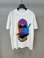 T Shirt da uomo Designer T-shirt 2021 Summer Luxury Tshir di alta qualità Grande catena di oro colorata a catena in oro dei terroristi donne uomini manica corta tee casual