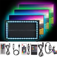 Strips USB Powered LED Strip Light RGB Multi-Colour TV Backlight Bluetooth Controller Diode Tape Flexible Neon Outdoor Night