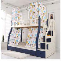 2021 [med konsol] myggnät för moder-och-barns sängar, våningssäng, stegeformad hushållshöjd säng gardiner