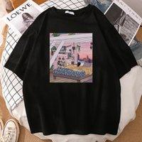 Мужские футболки сладкие мечты Дом печати Негабаритные Дышащие футболки TEE Высокое Качество Футболка Мужская Crewneck Повседневная T