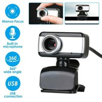 Camcorders 480P Consumidor 360 graus Rotatable USB HD Webcam Câmera com Microfone para PC Laptop Computador 2021