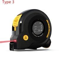 Digital Laser RangeFinders Mètre avec ruban 16ft Mesureur Distance Distance Gauge Gamme Gamme Finder
