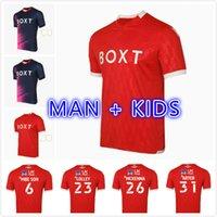 Adam Çocuk Kiti 21 22 Nottingham Futbol Formaları Orman 2021 2022 Camiseta Worrall MBE SOH Lolley McKenna Iletişim Futbol Gömlek Üst Tayland Kalite Maillot de Foot