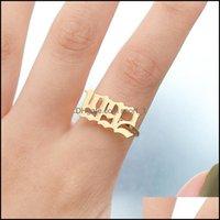 Solitaire Rings Jewelryrvs Born Year Ring Pair Sieraden 1998 1999 2000 2002 2003 2004 2005 2006 Rose Goud Adjustable Number Bff 936 T2 Drop