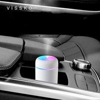 الزيوت الأساسية الناشرات الإبداعية ملون كوب الهواء المرطب طاولة المنزل سيارة USB شعار مخصص حجم 119 * 78 * 78mm