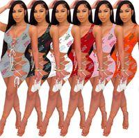 2021 Summer Women Two Piece Dress Mini Skirt Designer Tank Top + Skirts Sexy Bodycon Suit Party Evening Dresses Casual Sport Minidress