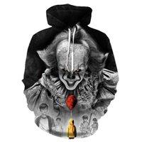 Men's Hoodies & Sweatshirts Filme De Stephen King Ito Palhaco Com Capuz E Estampa 3d Para Cosplay Fantasia Homens Mulheres Desenho Animado