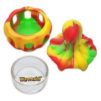 Waxmaid Octopus Forma Mini Silicona Vidrio DAB Tazón Fumar Accesorios Para Fumar Jar Cera Seis Colores con un paquete de caja de regalo para el barco minorista del almacén de los EE. UU.
