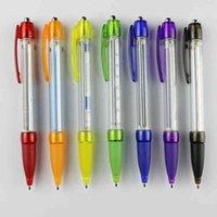 أقلام حبر جاف سحب قابل للسحب راية ballpen مخصص طباعة رسالة إعلان القلم 10pcs / lot F05S