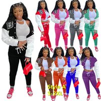 Designer Frauen Sweatsuit Set Trainingsanzüge Zwei Teile Outfits Fall Jackets Set Sport Jogger Hosen Baseball Sportswear Jog Anzug Varsity