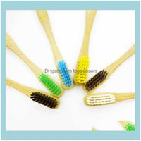 Toothbrush Oral Hygiene Health & Beautytoothbrush Flat Handle Rainbow Baby Head Multi Style Bamboo Drop Delivery 2021 Gxp7J