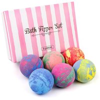 Bathroom Supplies Aromatherapy Essential Oil Bubble Bath Bombs Salt Balls 6 Pieces Set 60g per One Giftbox Packaged