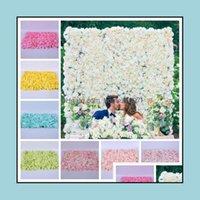 Decorations Patio, Lawn Garden Home & Garden60*40Cm Silk Artificial Dried Backdrop Wedding Party Decoration Flower El Background Wall Decor