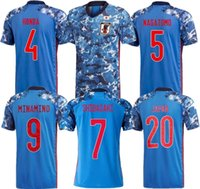 2021 2022 Giappone National Team Okazaki Kagawa Mens Soccer Jerseys Honda Hasebe Nagatomo 21 22 Home Blue Away White Football Camicie Camicie Uniforme Taglia S - 4 XL