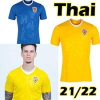 2021 2022 رومانيا لكرة القدم الفانيلة المنزل الأصفر بعيدا Biue 21 22 Alexandru Cicaldau Ianis Hagi Dennis Men Marin Football Shirts Mailleots Camiseta de Futbol Thailand