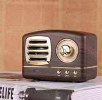 6 Farben Retro drahtlose Bluetooth-Lautsprecher Radio HM11 Neuer Retro niedlicher Mini-Bass mit TF-Kartenschnittstelle Bluetooth V4.2 Lautsprecher innovatives Geschenk tragbare Sprecher