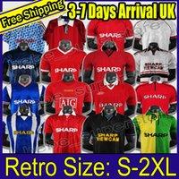 Retro United 2002 Soccer Jersey Man Voetbal Giggs Scholes Beckham Ronaldo Cantona Solskjaer Manchester 06 07 08 94 96 97 98 99 86 88 90
