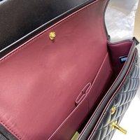 Original 5A + LAMB Haut Patent Handtaschen Top Qualität Brieftasche Berühmte Designer Luxus Frauen Geldbörse Gold- und Silberkette Weibliche Packa