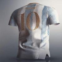 Men's T-Shirts Top Quality Shirt KUN AGUERO MESSI LO CELSO DYBALA L. MARTINEZ MARADONA DI MARIA OCAMPOS OTAMENDI 21 22 ArgentinaES
