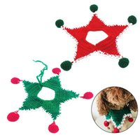 Pet Scarf Fashion Creative Christmas Ball Decoration Collar Lovely Knitted Cat Dog Costume Clothing Accessories Collars & Leads