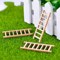 6 أجزاء سلم سلالم سوبر ماركت الدرج Stairway Stepladder درج نموذج صغير تمثال الحرف حلية المنمنمات المنزل diy y0910