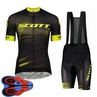 Erkek Bisiklet Forması Set Yaz Scott Takımı Kısa Kollu Bisiklet Gömlek Önlüğü Şort Takım Elbise Hızlı Kuru Nefes Bisiklet Üniforma Yarış Giyim Boyutu XXS-6XL S041417