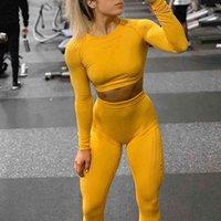 Set de deportes de mujer Juego de yoga Traje de yoga Fit Ropa deportiva Ropa de gimnasio Ropa de vestir activa Ropa para mujer