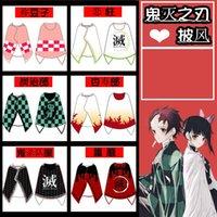 Scarves COSTAR Anime Demon Slayer Theme Cloak Tanjirou Nezuko Zenitsu Giyuu Shinobu Cosplay Winter Warm Wraps Men Women Kids