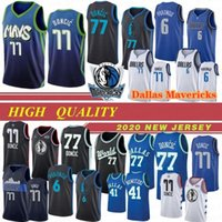NCAA 77 Doncic Koleji Basketbol Formaları Kristaps 6 Porzingis Dirk 41 Nowitzki Donovan 100% Dikişli 19 20 Yeni En Kaliteli