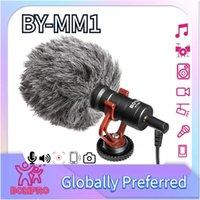 Boya MM1 Cardioid بندقية ميكروفون لأبل أندرويد الذكي الذكي كانون نيكون سوني DSLR كاميرا كاميرا الكمبيوتر IMP، BY-MM1