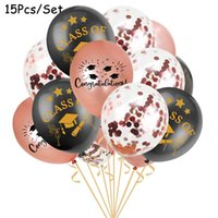 행운을 빕니다 졸업식 호 일 풍선 파티 용품 졸업식 장식 의사 모자 헬륨 Ballon Diploma Globos 12 인치 15pcs / 세트 Zyy881