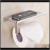 Holders Creative Toliet Mutifunctional Bathroom Hardware Organizer Stainless Steel Toilet Roll Paper Mobile Phone Holder Ozh0G Gvtbd