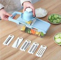 مندولين مقشرة الخضروات المبشرة أدوات القاطع مع 5 شفرة carrotgrater البصل الخضروات القطاعة اكسسوارات المطبخ DHB6053