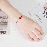 Bijoux à la main en gros Bracelet perlé bracelet cornaline bracelet de cristal pour femmes filles, faites à la main pierre précieuse naturelle cornaline rouges perles rondes cicatrisante