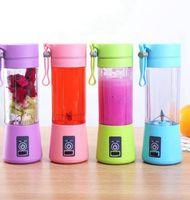 4 ColorsKitchen Araçları 1300mA Elektrikli Sıkacağı Bardakları Mini Taşınabilir USB Şarj Edilebilir Meyve Suyu Blender ve Mikser 4Leaf Plastik Suları Yapma Fincan Q181