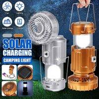Портативные фонарики SMUXI 3 в 1 Энергосберегающие Светодиодные Светодиодные Света с вентилятором Многофункциональный Солнечный Аккумуляторный Настольный Лампа