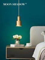 펜던트 램프 Moonshadow 조명 LED 전체 황동 노르딕 숙매 램프 실내 조명 침실 주방 고정물 램프 220V