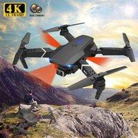 E525 Pro Drone 4K Dual HD Cámara WiFi FPV Profesional RC Quadcopter Drones Evitación plegable Obstáculo RC Helicopter Juguete 210915