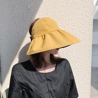 夏の女性の顔を覆っている紫外線保護巨乳サンハットビニールサンシェード空の上のサンボンネットの折り畳み式パナマキャップワイドブリム帽子帽子