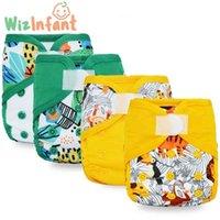 ! (4pcs / lote) Wizinfant Eco-Friendly Born Diaper Cover Pañales de tela lavables para bebés para niños 210727