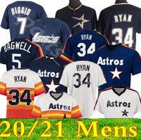 Пользовательские 7 Craig Biggio мужские женские молодежные дети вязаные Астрос Джерси 34 Нолан Райан 5 Jeff Bagwell Rembe Bareback Бейсбольные майки 08
