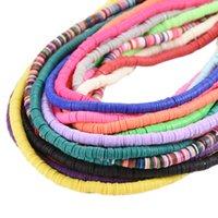 6mm Multi Colors Flat Redondo Redondo Polímero Clay Beads CHIP DISCO SOBRE SPACER BEADS PARA JOYERÍA DE MODA Fabricación del collar DIY 1800 Q2