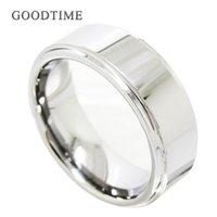 Moda uomo in carburo di tungsteno anelli di fidanzamento wedding shiny band liscio gioielli accessori regalo per cluster maschile