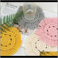Mats Pads Table Decoration Aessories Kitchen, Dining Bar Home & Garden Drop Delivery 2021 Ins Nordic Style Cotton Thread Tassel Meal Diy Hand
