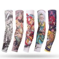 Calentadores de brazos Mangas de brazo Cubrir tatuajes Hielo Silida sol sol deportes al aire libre Montar Tatuaje Diseños de manga para hombres Mujeres