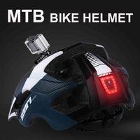 النواب MTB الطريق دراجة أسفل هيل أدى أضواء برو حامل الكاميرا الدراجات في الهواء الطلق الرياضة ركوب دراجة خوذة للرجل