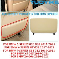Car Organizer 5 Colors Seat Backrest Leather Pocket Cover Replacement For   6 7-Series X5 X6 G30 G38 G32 G11 G12 G05 G06 2021-2021