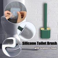 الجدار شنقا فرشاة المرحاض TPR مع الملقط وحامل مجموعة شعيرات سيليكون لغرض الحمام تنظيف المنزلية المواد المنزلية حمام التبعي